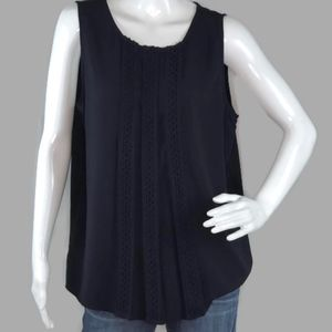 New With Tag Ann Taylor Navy Blue Tank Top Size L